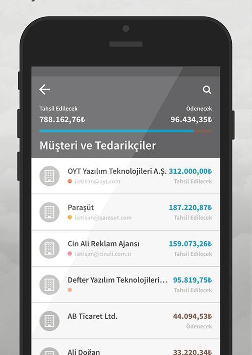 Mobil Muhasebe Programı Fatura Takibi