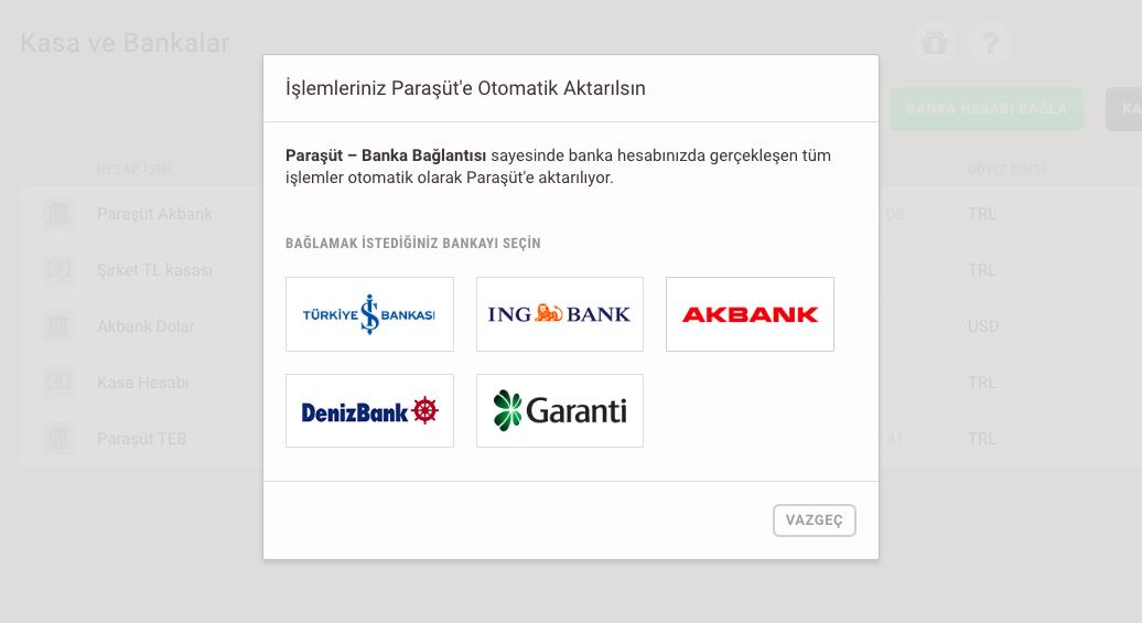 Paraşüt İş Bankası Entegrasyonu Adımları